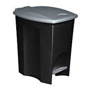 LIXEIRA 7L C/ PEDAL ECO BLACK