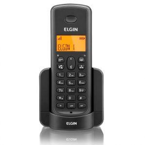 TELEFONE SEM FIO PRETO COM IDENTIFICADOR DE CHAMADAS E VIVA-VOZ - 85481