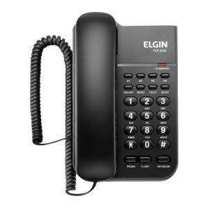 TELEFONE DE MESA COM FIO COR PRETA - 85480