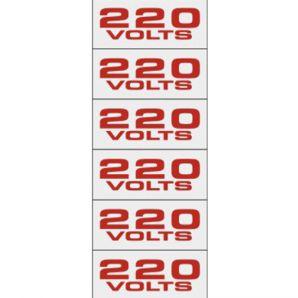 PLACA 220V 1.5X3.5 C/16