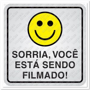 PLACA SORRIA/FILMADO 15X15