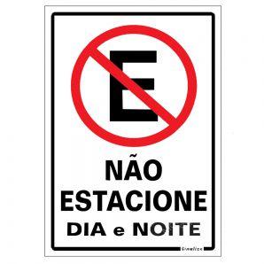 PLACA NAO ESTACIONE 20X30