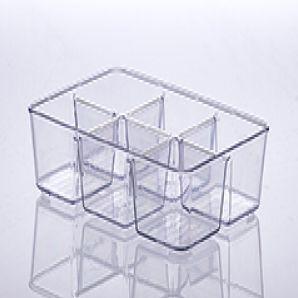ORGANIZADOR DIAMOND COM DIVISÓRIA 25X18X6CM CRISTAL