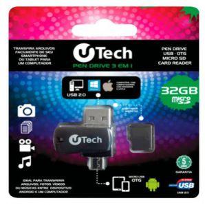PEN DRIVE OTG 3 EM 1 32GB - 86444