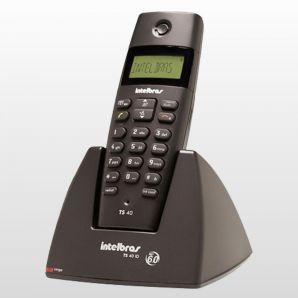 TELEFONE SEM FIO INTELBRAS DECT TS 40 C+