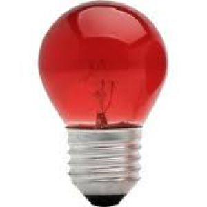 LAMPADA BOLINHA 127V VERMELHA