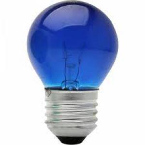 LAMPADA BOLINHA 127V AZUL