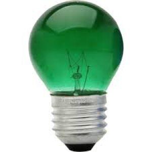 LAMPADA BOLINHA 127V VERDE.